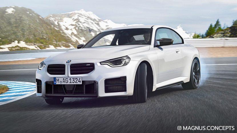 新型BMW M2(G87)のバンパー写真リークからのG87新型M2レンダリング画像!これはアリ?ナシ?