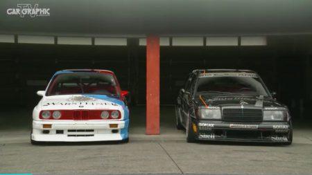 胸アツ!DTMの主役の2台87年式BMW M3、90年式メルセデス・ベンツ190Eエボツーがもてぎを走る、カーグラTVの見逃し配信が期間限定公開中!!